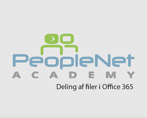 Deling af filer i Office 365 People Academy