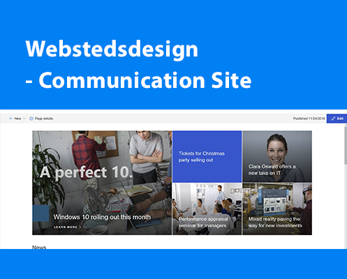 Hvad er SharePoint communication site