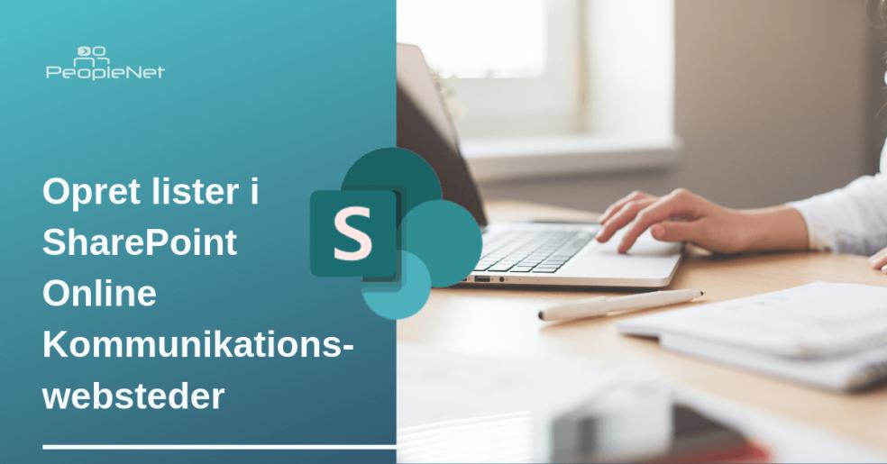 Opret lister i SharePoint online Kommunikationswebsteder