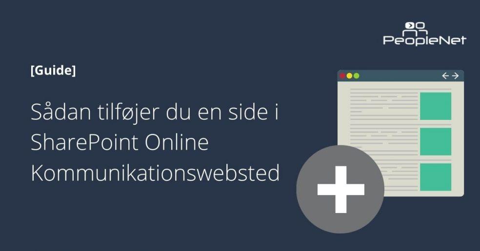 Sådan tilføjer du en side i SharePoint Online Kommunikationswebsted