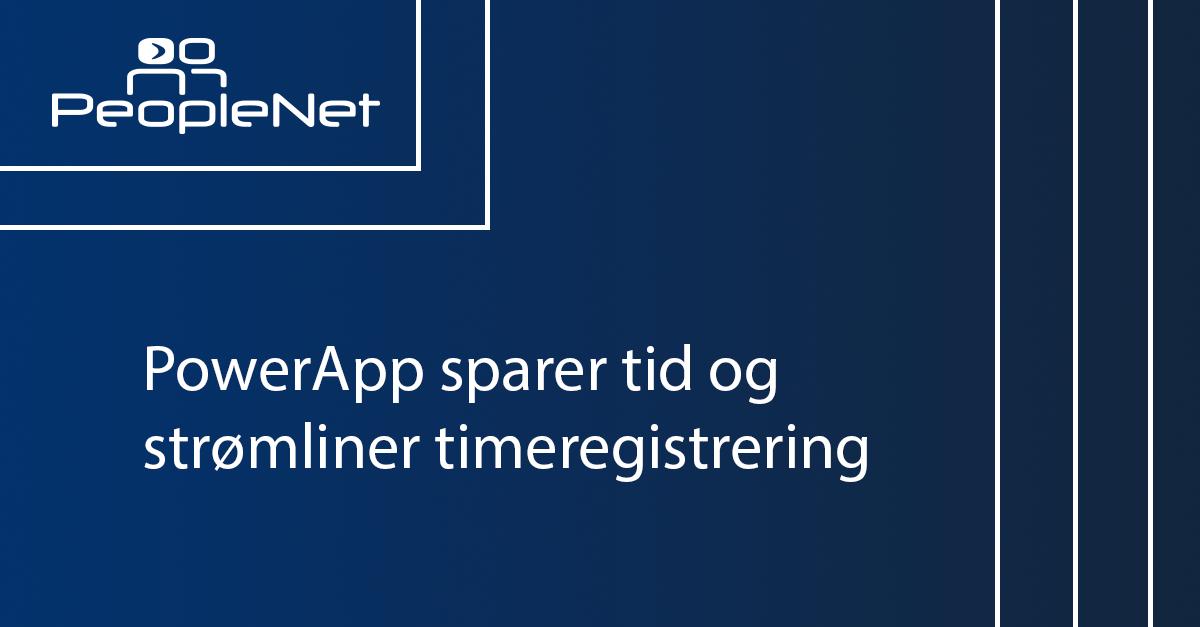 PowerApps timeregistrering