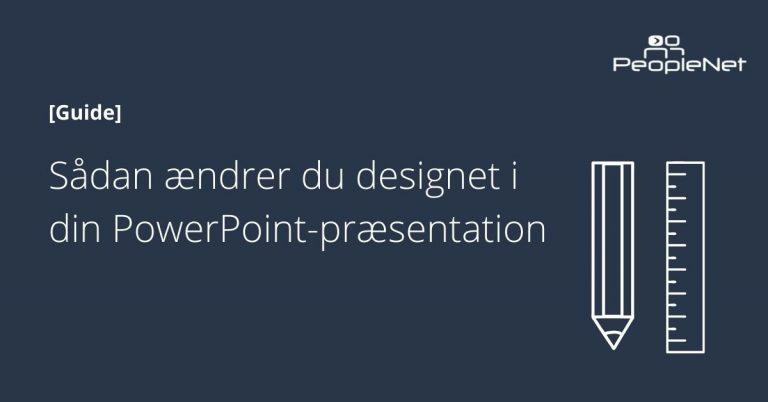 design af powerpoint-præsentation