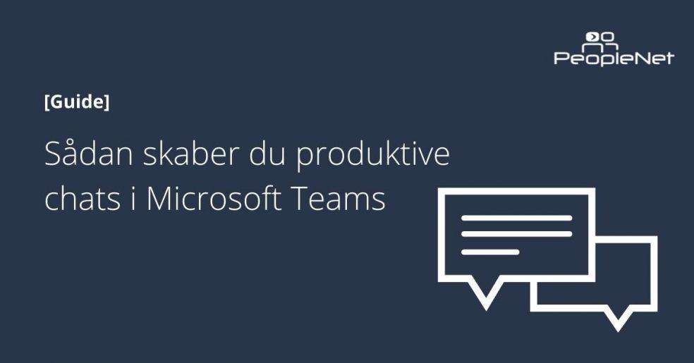 produktiv chat i microsoft teams