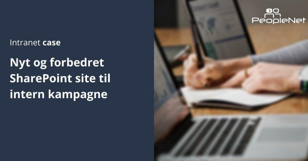 Forbedret SharePoint site til intern kampagne