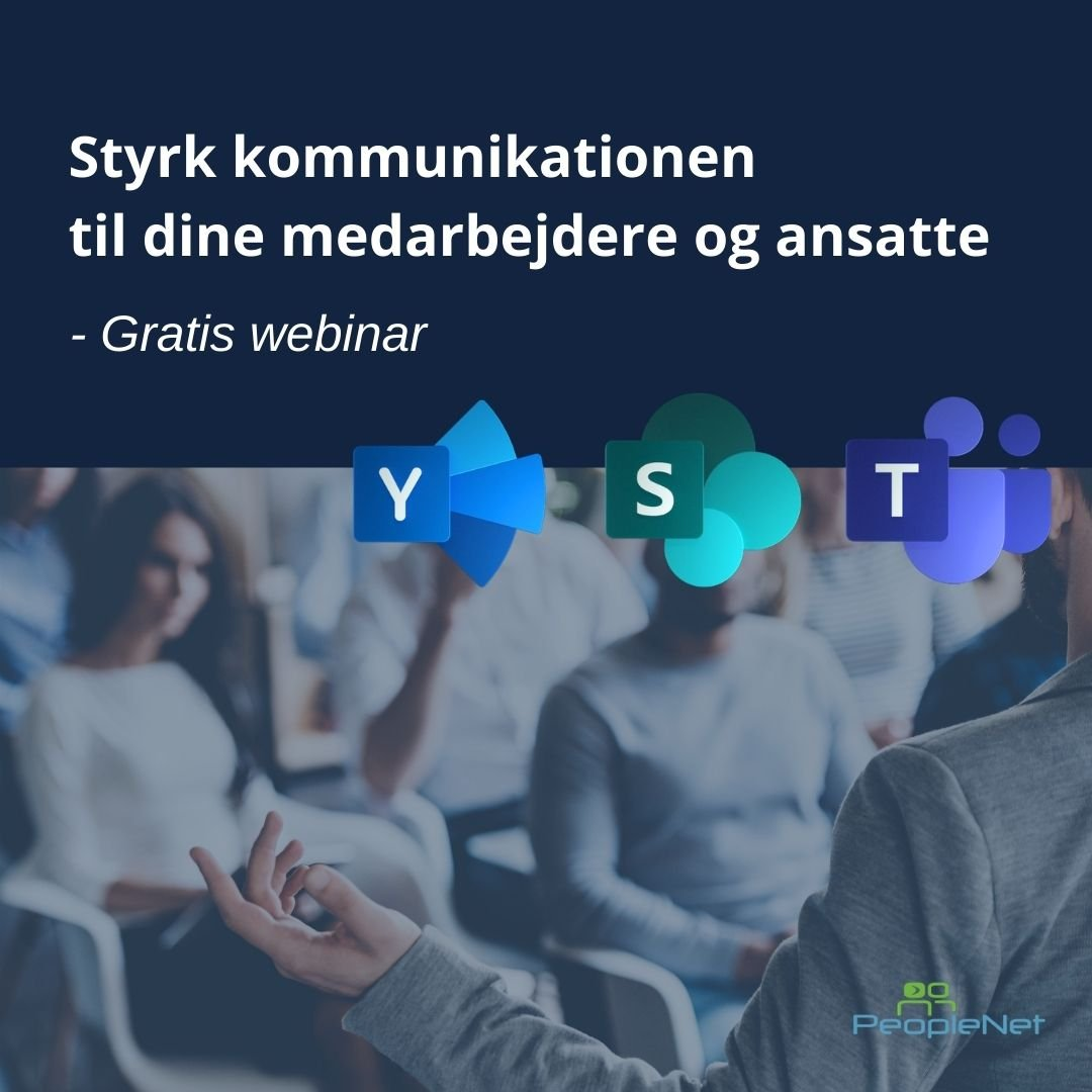 Styrk kommunikationen, Teams, SharePoint og Yammer