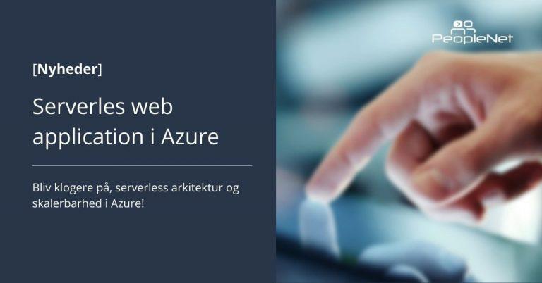 serverless web application