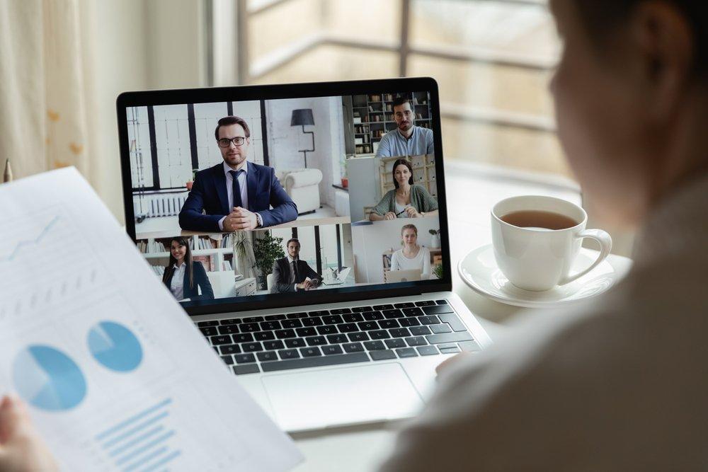 online møder med kollegaer