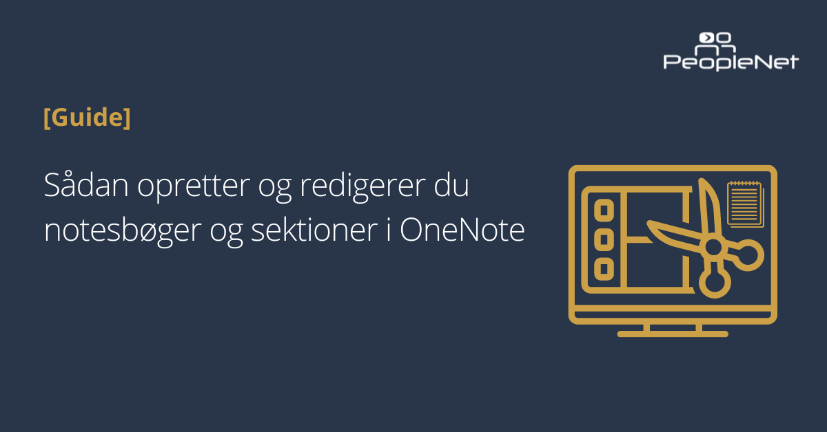 Opret og redigere sektioner i OneNote
